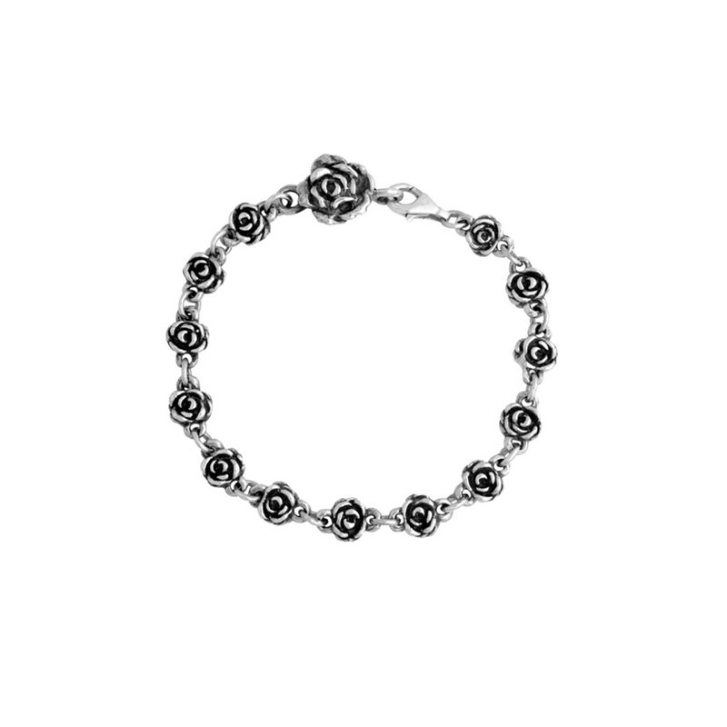 King Baby Rose Motif Chain Bracelet