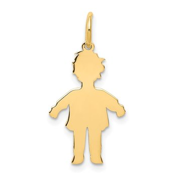 14k Plain Polished Small Boy Charm