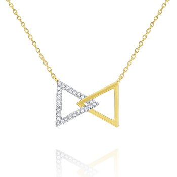 14k Gold and Diamond Bowtie Necklace