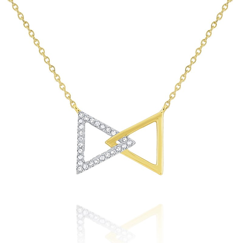 KC Designs 14k Gold and Diamond Bowtie Necklace
