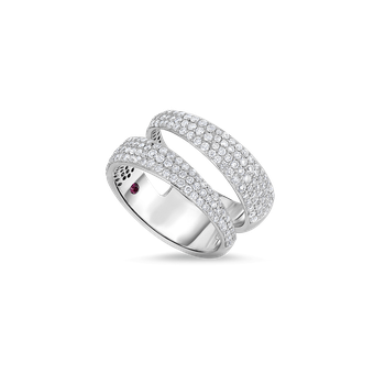 2 Row Ring With Diamonds