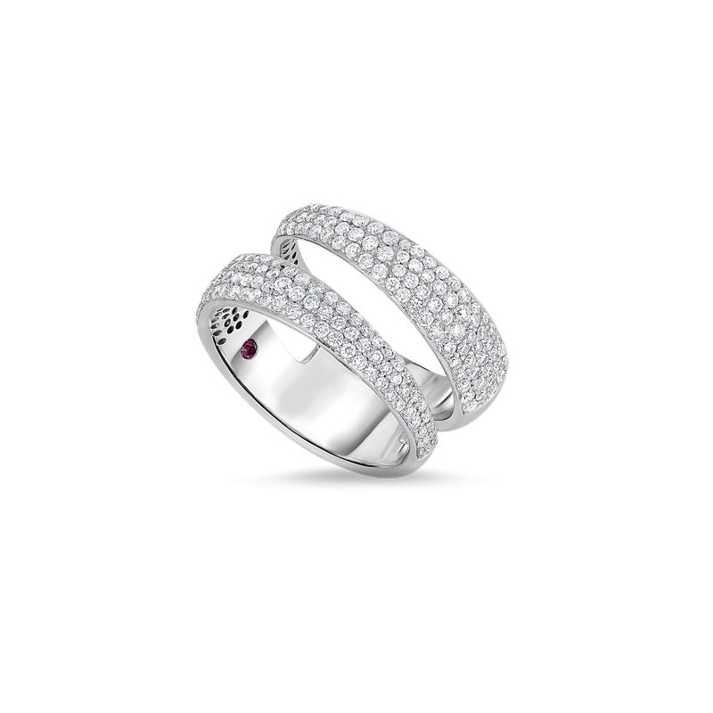 Roberto Coin 2 Row Ring With Diamonds
