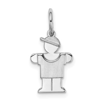 14k White Mini Boy Lugs Charm