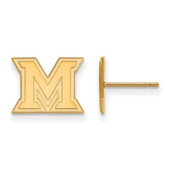 Gold Miami University NCAA Earrings