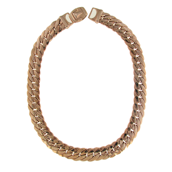 18KT ROSE GOLD FLAT LINK NECKLACE