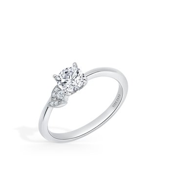 Home Try On Floral Delicate Diamond Replica Engagement Ring