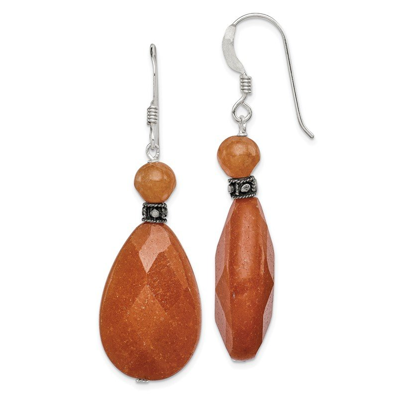 Quality Gold Sterling Silver Carnelian Earrings