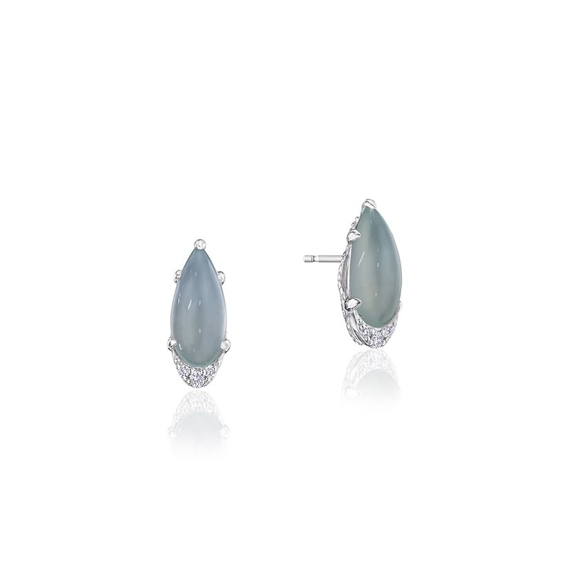 Tacori Fashion Pear-Shaped Gem Earrings with Green Chalcedony