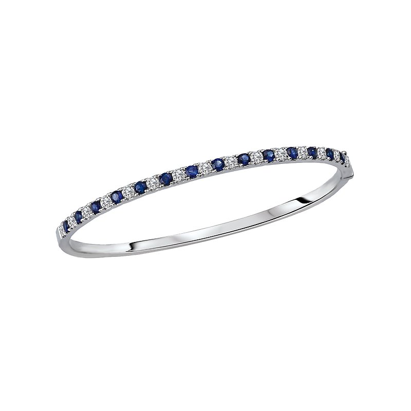 Tesoro Ladies Diamond Hinged Bangle