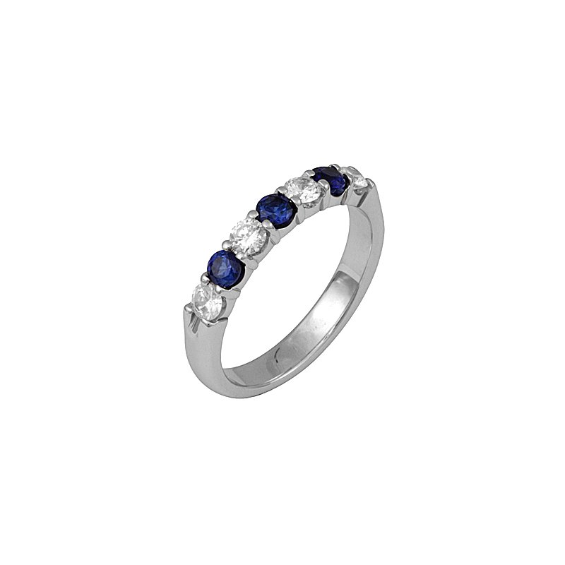 Just Perfect Diamond and Sapphire Band