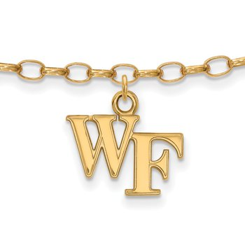 Gold-Plated Sterling Silver Wake Forest University NCAA Bracelet