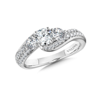 Valina Diamond Engagement Ring Mounting in 14K White Gold (.75 ct. tw.)
