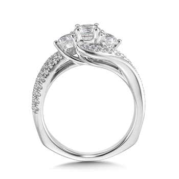 Diamond Engagement Ring Mounting in 14K White Gold (.75 ct. tw.)