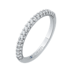 Carizza 14K White Gold Round Diamond Wedding Band