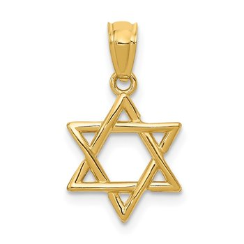 14k Polished Star of David Pendant