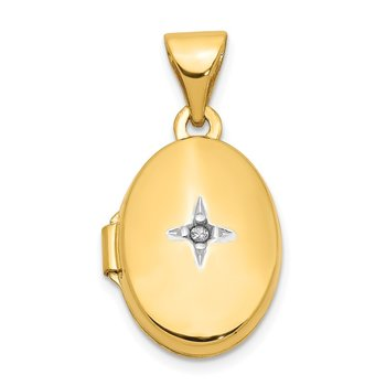14k Diamond Locket