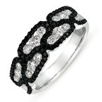 S. Kashi  & Sons White & Black Diamond Band