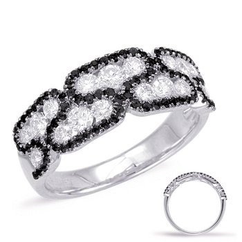 White & Black Diamond Band