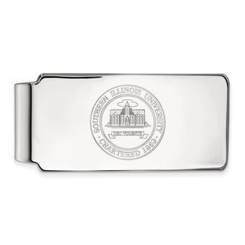 Sterling Silver Southern Illinois University NCAA Money Clip