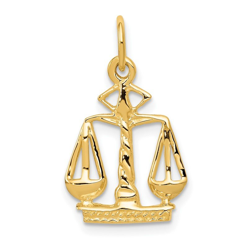 J.F. Kruse Signature Collection 14k Scales Of Justice Charm