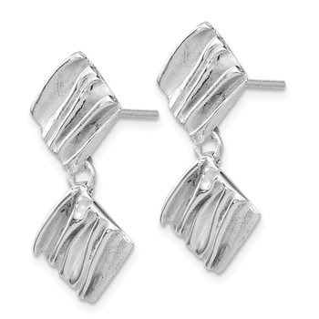 Leslie's SS Rhodium-plated Scrunch Earrings