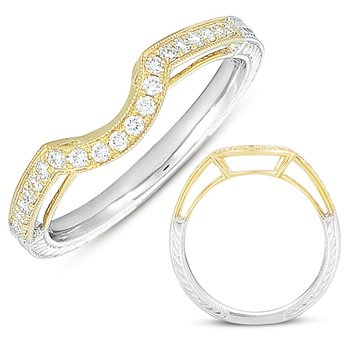 Yellow & White Gold Matching Band
