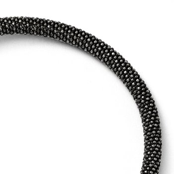 Leslie's Sterling Silver and Ruthenium-plated Magnetic Bracelet