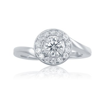 WS - The Halo Swirl Bridal Ring