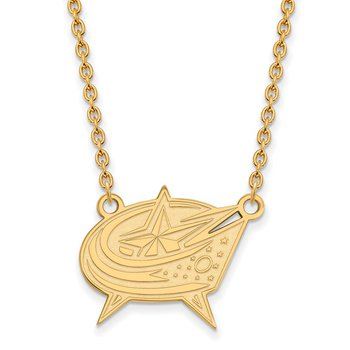 Gold-Plated Sterling Silver Columbus Blue Jackets NHL Necklace