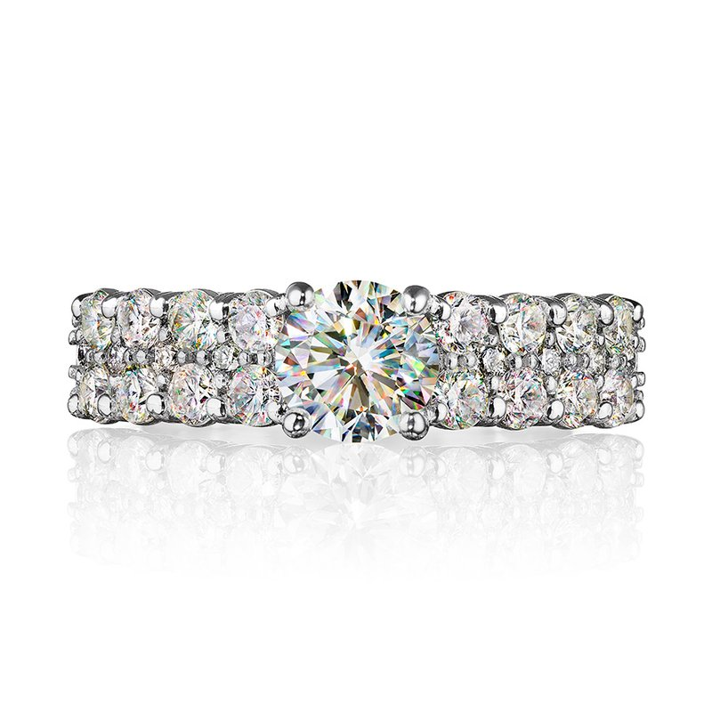 Fire Polish Diamonds Engagement Ring 2 CTTW