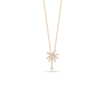 18KT GOLD SMALL PALM TREE PENDANT WITH DIAMONDS