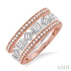 Gemstone Collection stackable diamond ring set