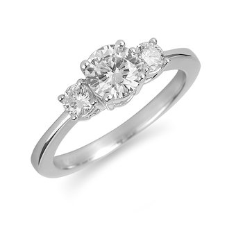 14K WG Diamond Engagement Ring. PPF Style