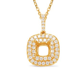 Diamond Pendant 1.50ct Cushion Cente