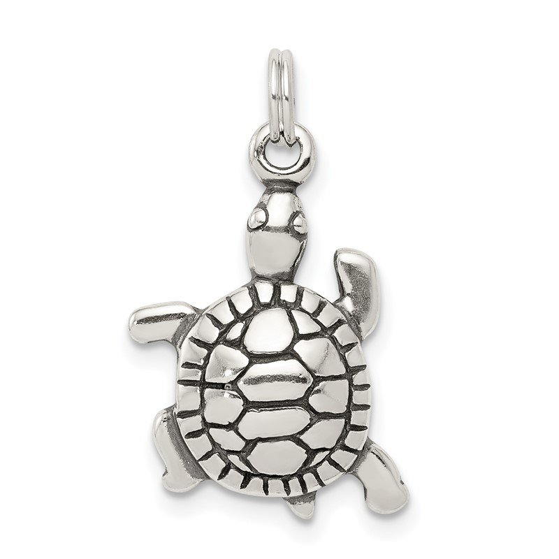 Quality Gold Sterling Silver Antique Turtle Charm