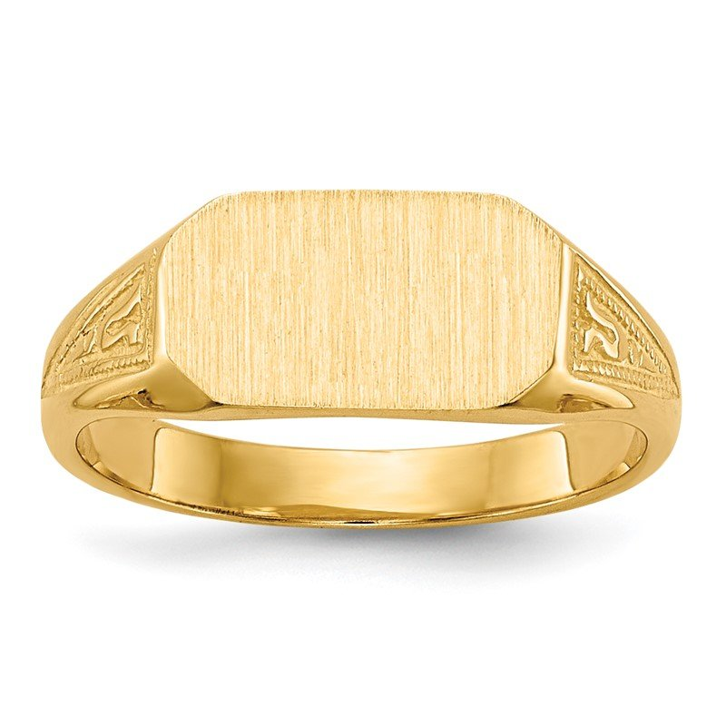 Quality Gold 14k 8.5x5.0mm Signet Ring