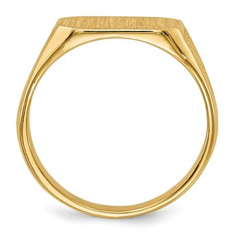 14k 8.5x5.0mm Signet Ring