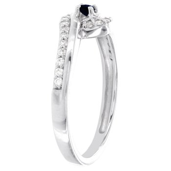 10k White Gold Sapphire and 1/5ct TDW Diamond Promise