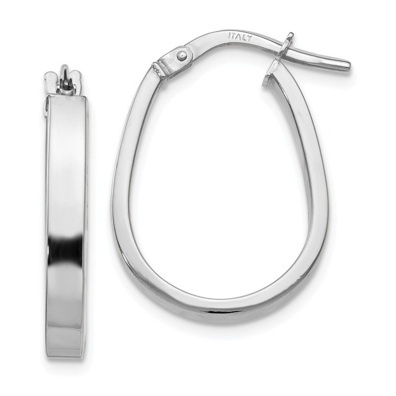 Leslie's Leslie's 10K White Gold Polished U-Shape Hoop Earrings