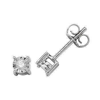 Diamond Studs Illusion Set W/G
