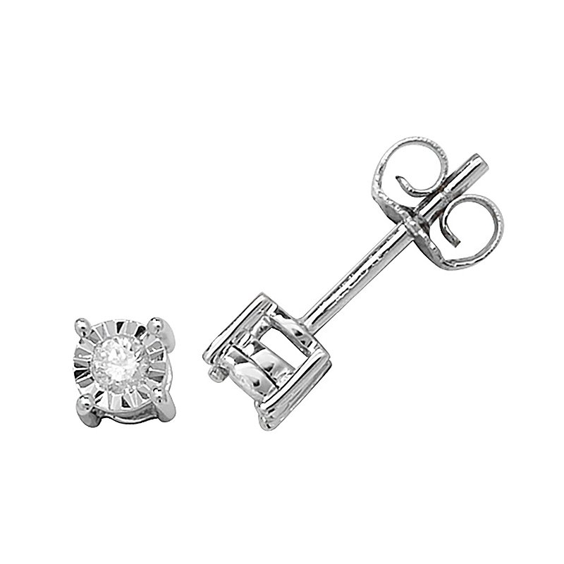 Treasure Diamond Studs Illusion Set W/G