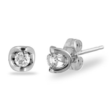 14K WG Diamond 'Moon Shine' Earring