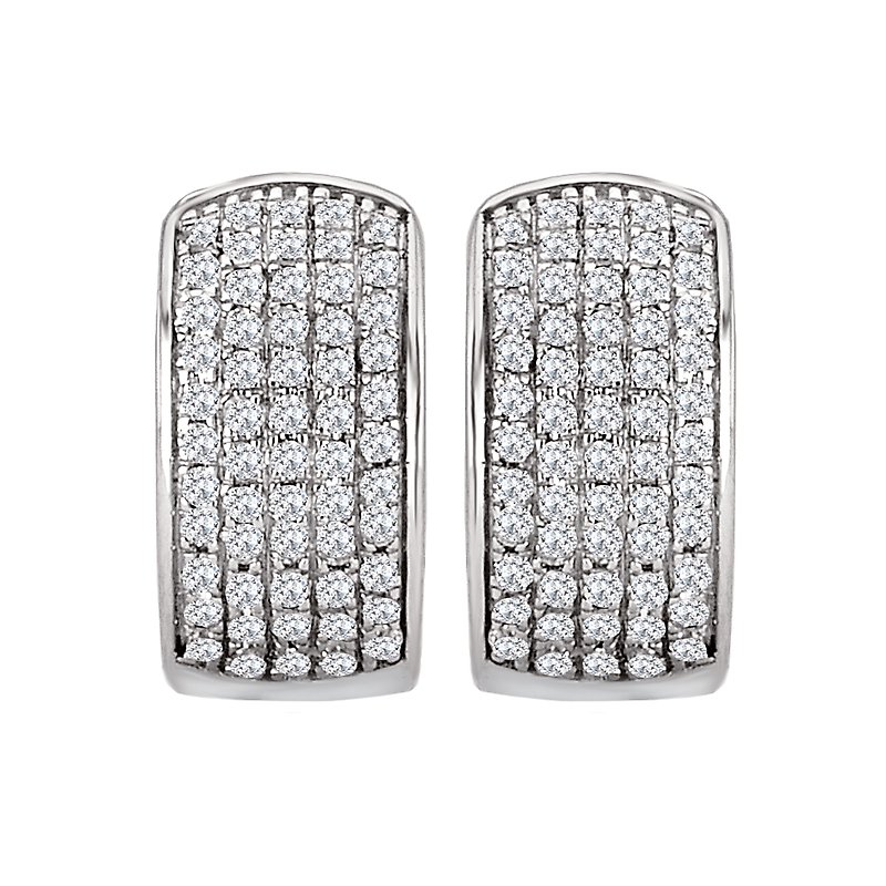 Tesoro Diamond Huggie Hoop Earrings