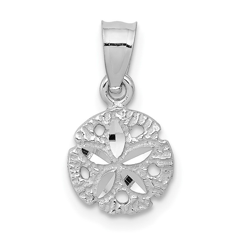 Fine Jewelry by JBD 14k White Gold Sand Dollar Pendant