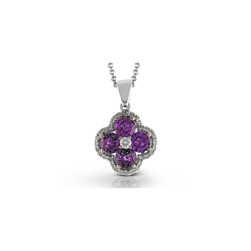 Zeghani ZP595 COLOR PENDANT