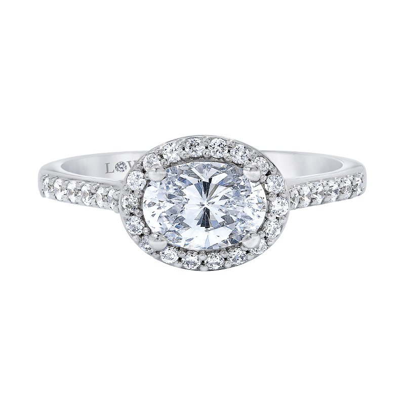 Love Story Diamond Semi-mount Engagement Ring by Love Story