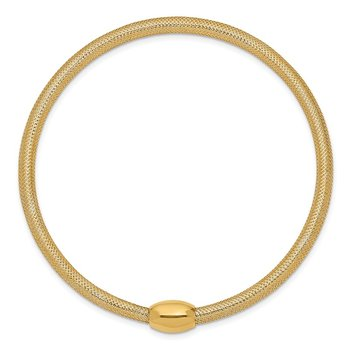 14K Stretch Mesh Necklace