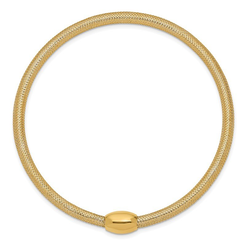 Quality Gold 14K Stretch Mesh Necklace