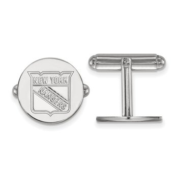 Sterling Silver New York Rangers NHL Cuff Links