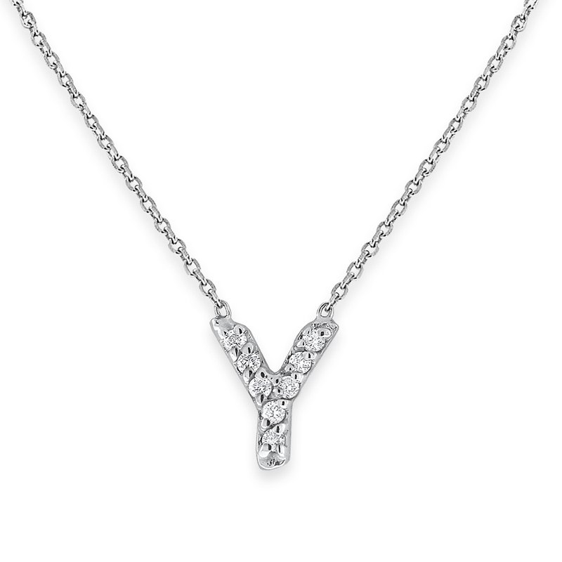 KC Designs Diamond Bitty Block Initial Y Necklace